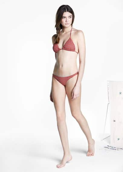 Strukturierte bikinihose | MANGO