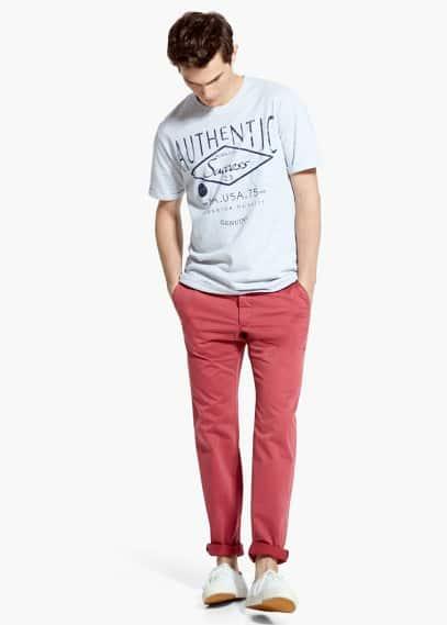 Authentic t-shirt | MANGO MAN