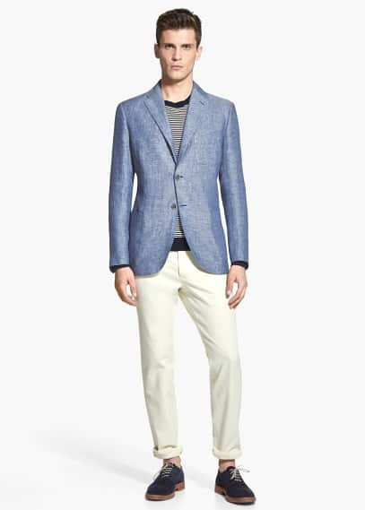 Linen blazer | MANGO MAN