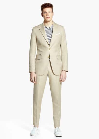 Anzug florida baumwolle-leinen | MANGO MAN