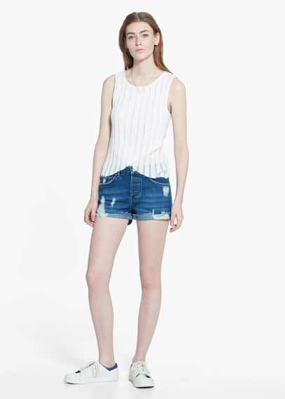 Short denim coton | MANGO
