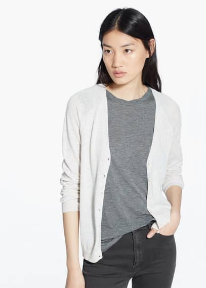 Cotton-blend cardigan | MANGO