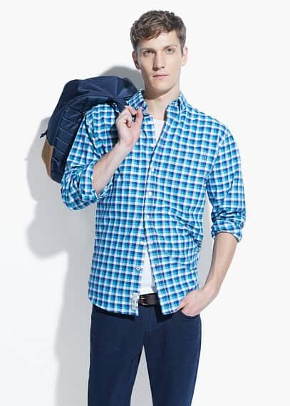 Classic-fit gingham check shirt