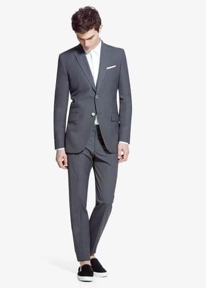 Micro houndstooth basilio suit | MANGO MAN