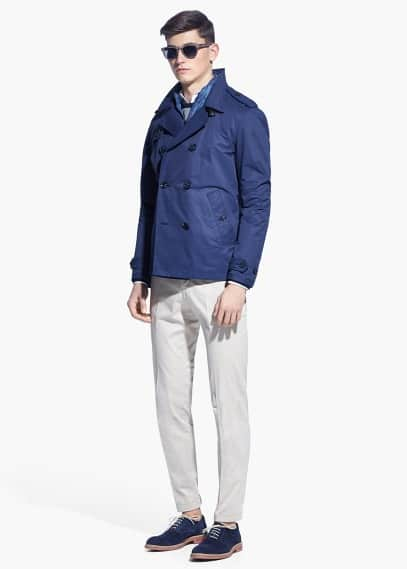 Waterafstotende nylon trenchcoat | MANGO MAN