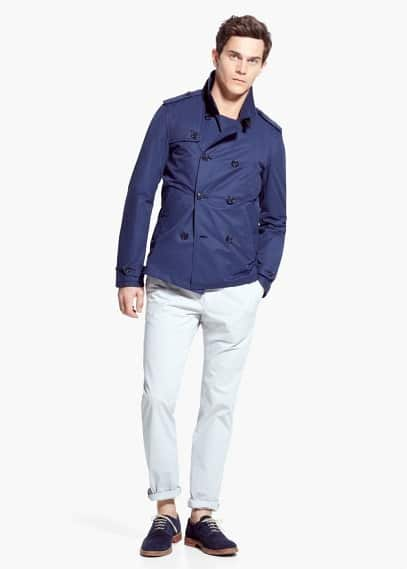 Water-repellent nylon trench | MANGO MAN