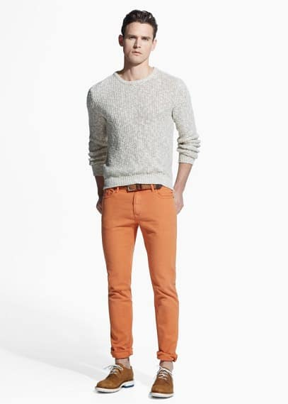 Katoenen 5-pocket slim-fit broek | MANGO MAN