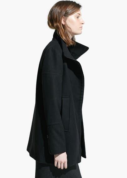 Abrigo cuello chimenea