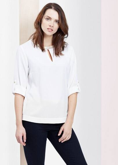 Chain detail blouse | VIOLETA BY MANGO