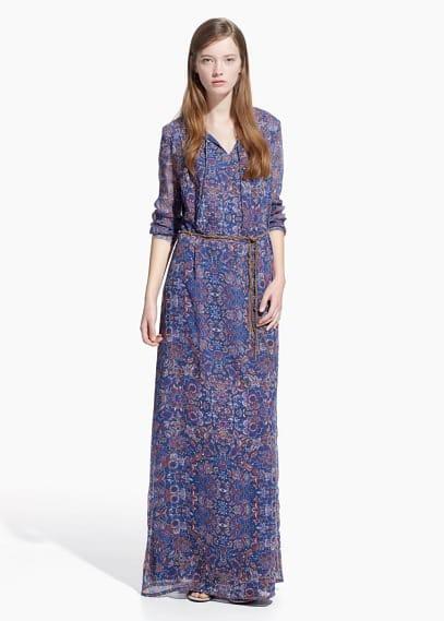 Vestido largo floral | MANGO MAN