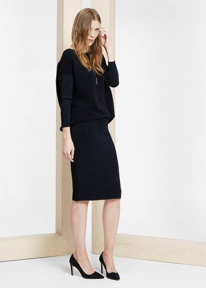 Slatted jersey skirt | VIOLETA BY MANGO