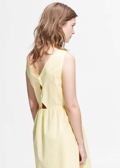 Back vent dress | MANGO