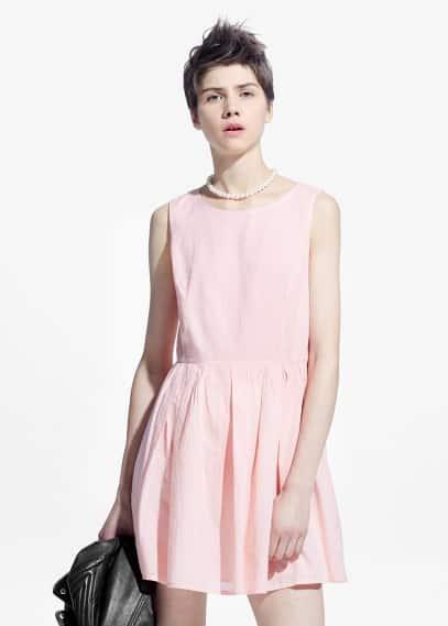 Kleid mit aussparung hinten | MANGO