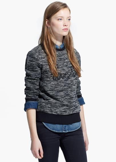Love flecked sweatshirt | MANGO