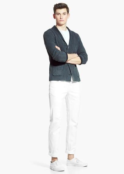 Jeans alex slim-fit blancos | MANGO MAN