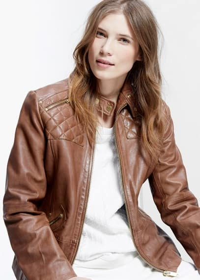 Biker leather jacket | VIOLETA BY MANGO