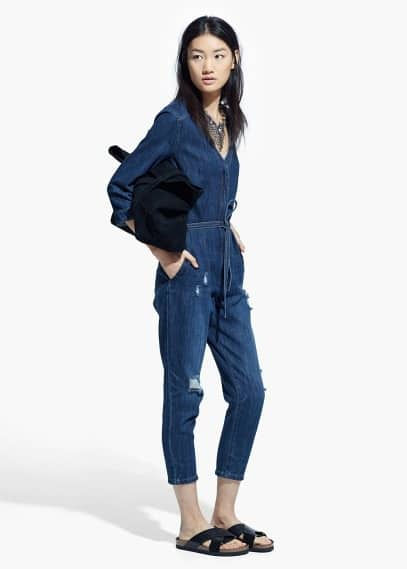 Original Long Chestpocket Jumpsuit  Women  MANGO