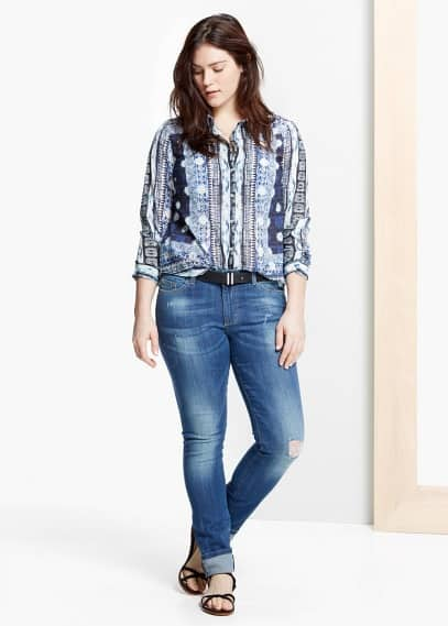 Super slim-fit pupi jeans | VIOLETA BY MANGO