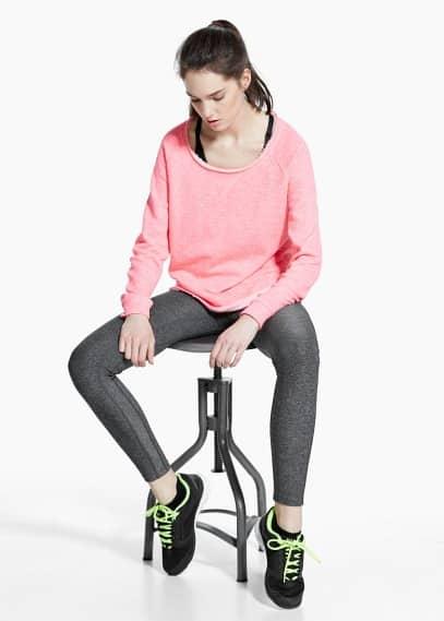 Yoga - pluche relax sweatshirt | MANGO