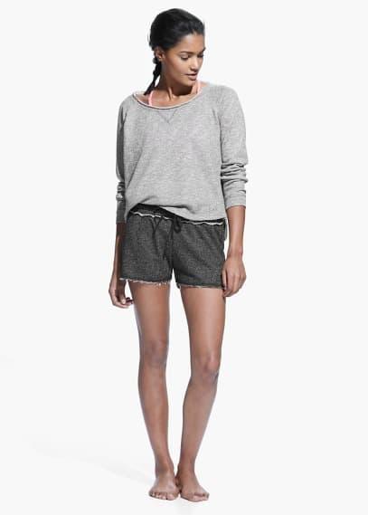 Yoga - relaxed plush sweatshirt | MANGO