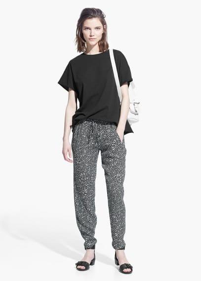 Baggy broek met print