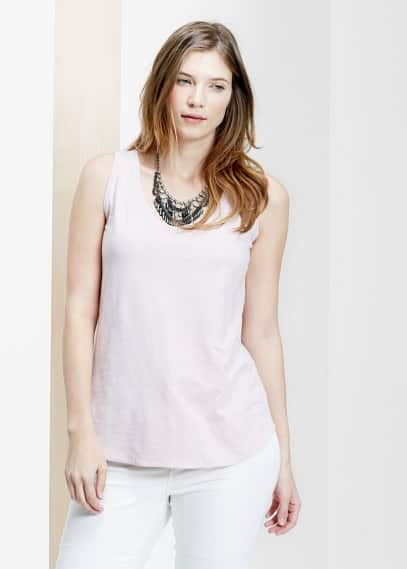 Slub-cotton top | VIOLETA BY MANGO