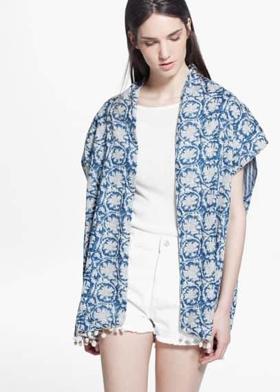 Printed reversible kimono | MANGO