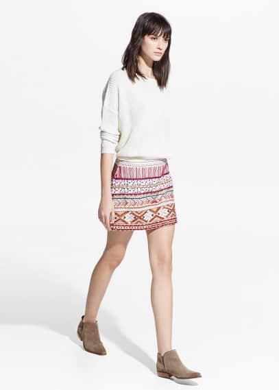 Bead ethnic miniskirt | MANGO