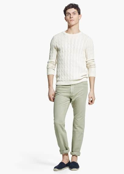Straight-fit 5 pocket trousers | MANGO MAN