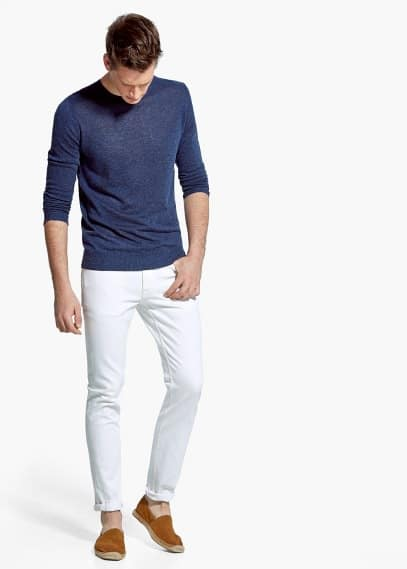 Linen-blend sweater | MANGO MAN