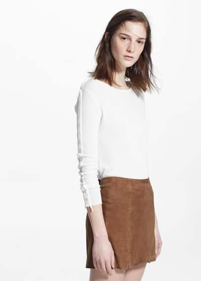 Leather skirt | MANGO