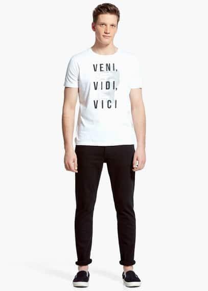 T-shirt vidi | MANGO MAN
