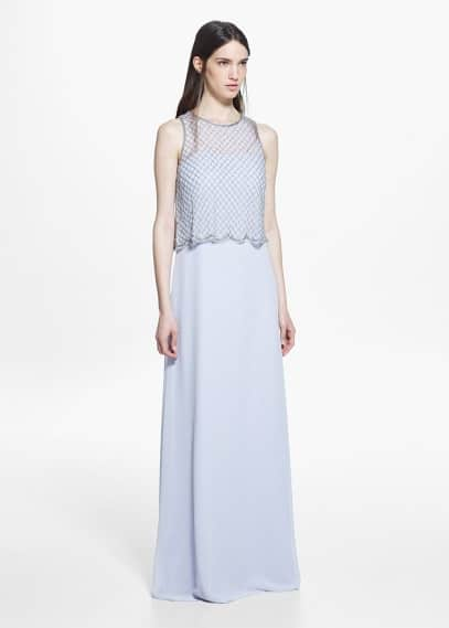Crystal bead gown | MANGO