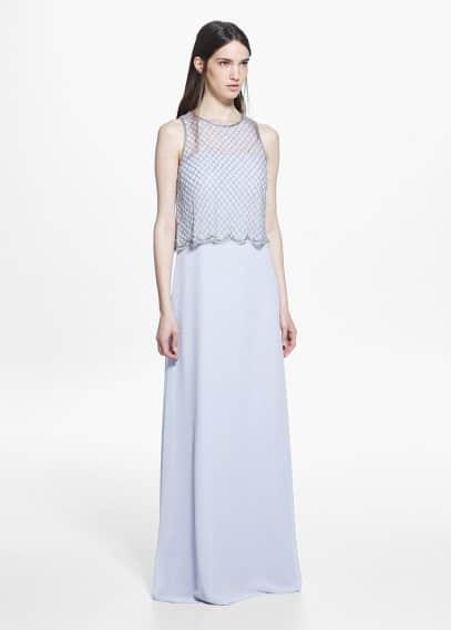Vestido abalorios cristales | MANGO