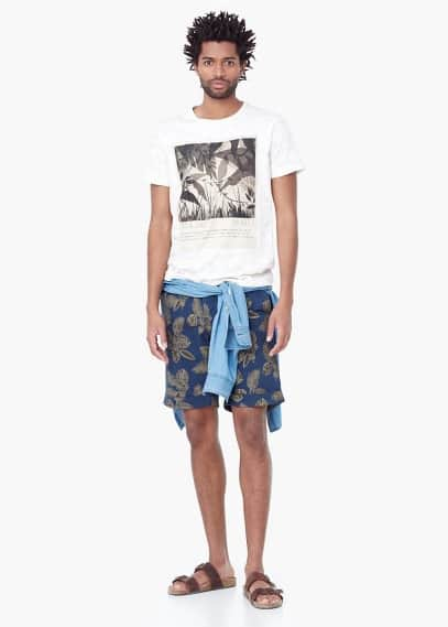 Jungle-print t-shirt | MANGO MAN