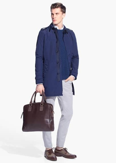 Long water repellent trench | MANGO MAN