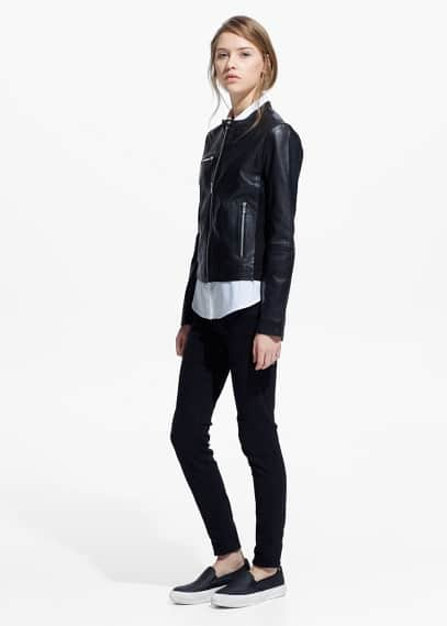 Leather jacket | MANGO