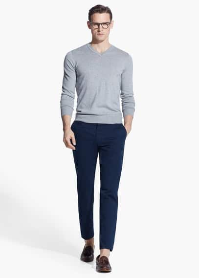 Chino straight-fit coton | MANGO MAN
