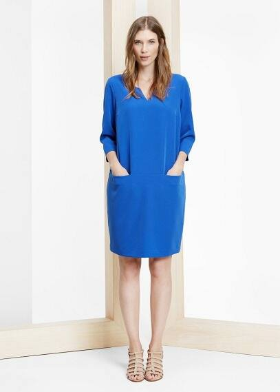 Pocket shift dress | VIOLETA BY MANGO