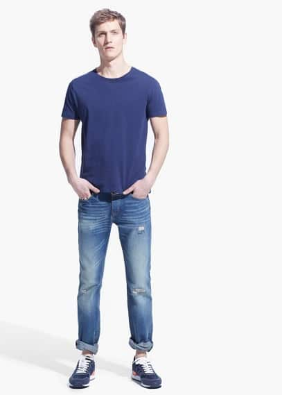 Slim-fit light vintage Steve jeans