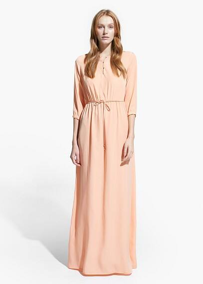 Flowy long dress | MANGO