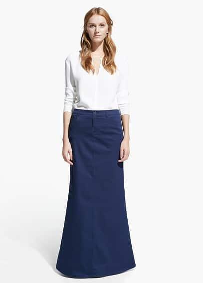 Flared long skirt | MANGO