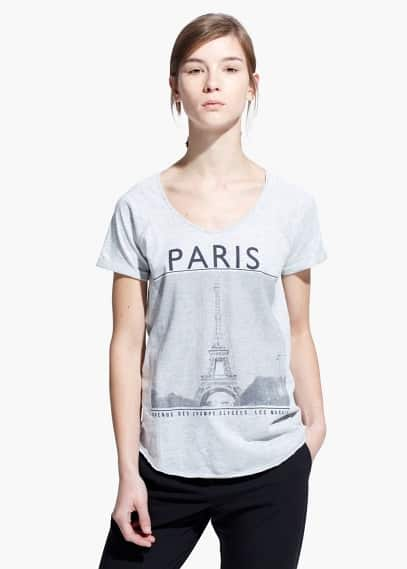 City print t-shirt | MANGO
