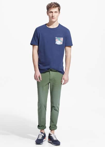 Katoenen slim-fit chino | MANGO MAN