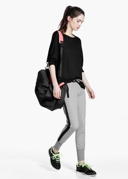 Yoga - relaxed cotton trousers   MANGO