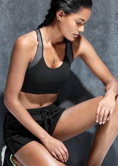 Fitness & running - sportovní podprsenka se střední oporou | MANGO