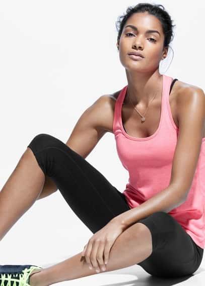 Fitness & running - technical racerback t-shirt | MANGO