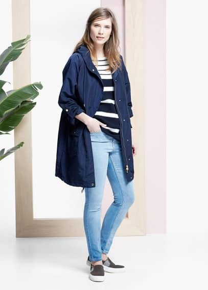 Casual hooded parka | VIOLETA BY MANGO