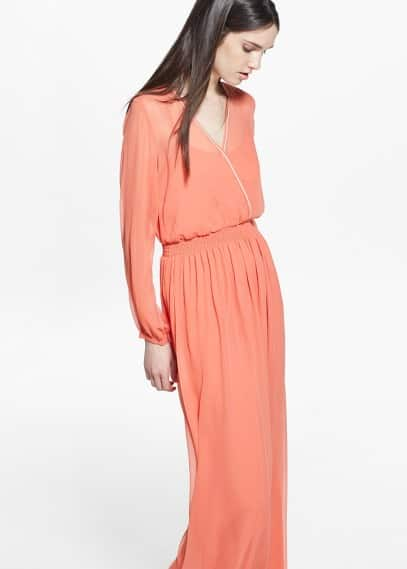 Wrap v-neckline dress | MANGO