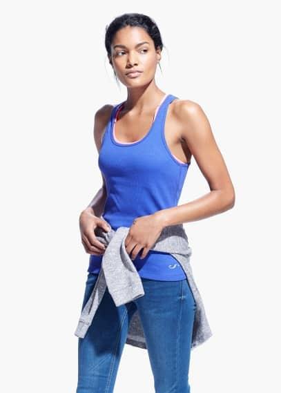 Yoga - comfort racerback t-shirt | MANGO
